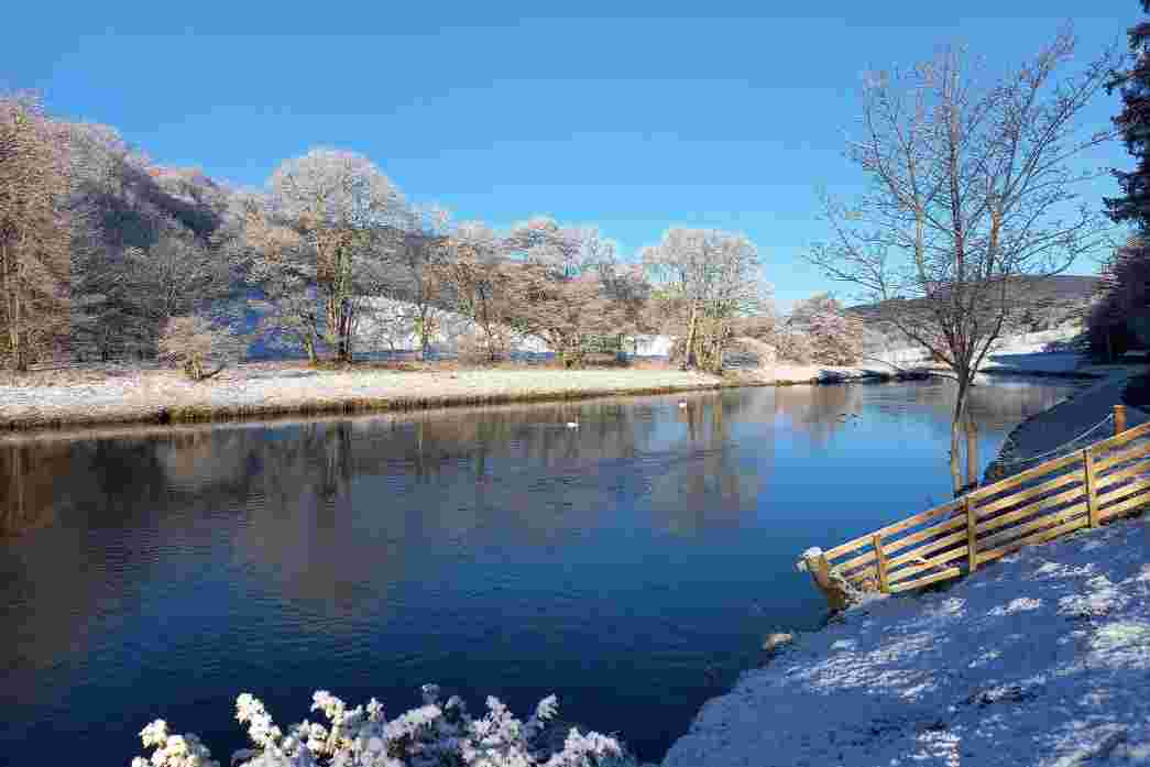The river tweed is a only a short stroll from your door