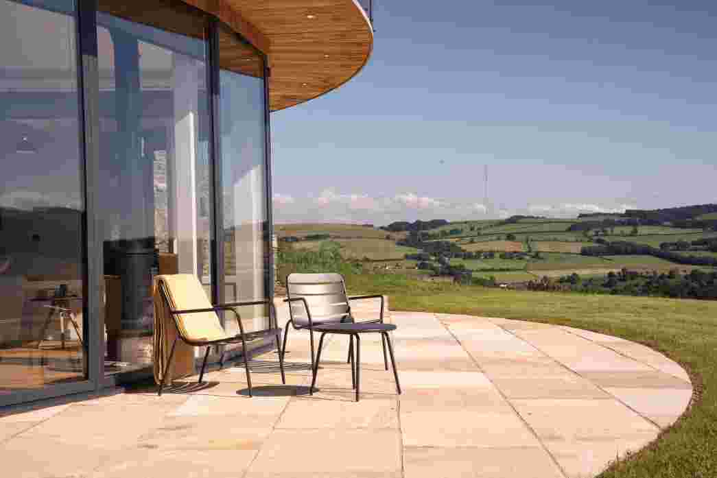 Sun trap for summer days and perfect for star gazing at night